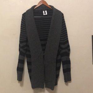 Bcbg maxazaria striped warm open cardigan sweater
